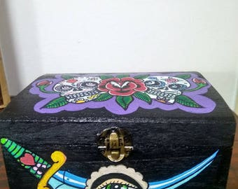 Day of the Dead wood chest