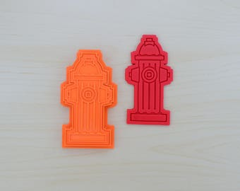 Fire Hydrant Cookie Cutter and Stamp Set