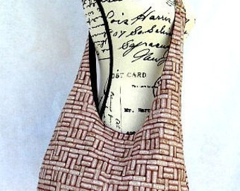 Cross Body Wine Cork Hobo Bag ,  Fabric Tote Bag,  Over The Shoulder Slouch Bag,  Purse.