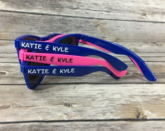 40 ADULT Personalized Sunglasses, Wedding Party Favor, Party Favor Sunglasses, Bachelor Party Favor, Bachelorette Sunglasses, Bridal Party