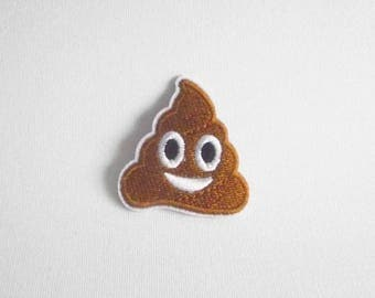 Poop patch, Poop iron on patch, Poo patch iron on applique, Poo iron on patch, Iron on poop embroidered patch