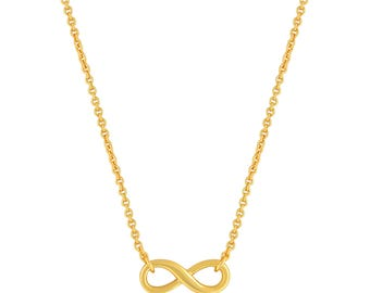 Infinity Necklace Gold