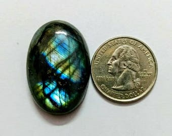 34.36 x 23 mm,Ovel Shape Labradorite Cobochon/Blue Flash/wire wrap stone/Super Shiny/Pendant Cabochon/Semi Precious Gemstone/labradorite