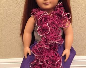 Crochet Ruffle Doll Scarf