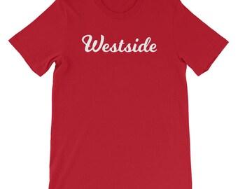 Westside  - Red - Black - White - Pink - West Side - Denver - Colorado - Native - Short-Sleeve T-Shirt
