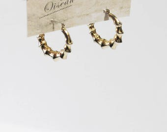 1970s Bamboo Hoop Earrings