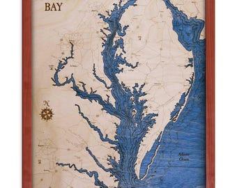 Chesapeake Bay 16x20 3D Wall Chart