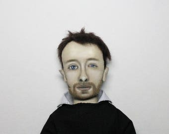 Thom Yorke Radiohead doll, Portrait doll, personalized doll, likeness doll from picture, unique birthday gift