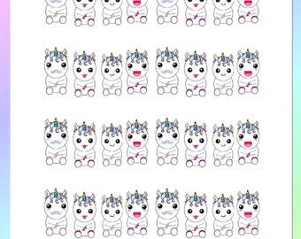 Cute Unicorn Planner Stickers