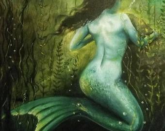 Little mermaid, Oil Painting