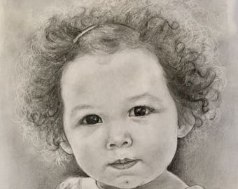 Custom Hand-drawn Portrait of a Child