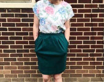 Cotton Mini Skirt with Pockets sz S