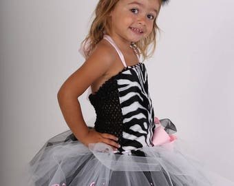 Kids costume, tutu dress little Zebra carnavall costume