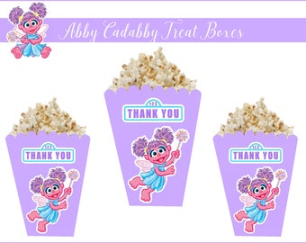 8 ABBY CADABBY POPCORN Boxes, Abby Cadabby Custom Treat Boxes, Abby Party Favors, Abby Party Supplies, Abby Cadabby, Abby Cadabby Party.