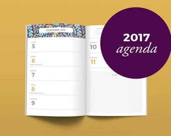 Catalan daily planner 2017 - schedule 2017 - Catalan printable planner - 2017 catalan schedule - Printable daily planner 2017 - Agenda