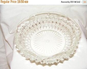 20% Sale Vintage Jeanette Glass Candy Dish - Windsor Pattern