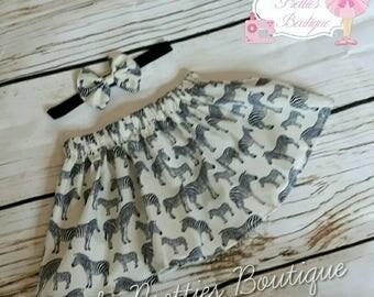 0-6 mths Zebra baby girl skirt