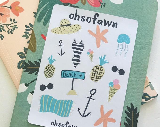 Beach Life Stickers