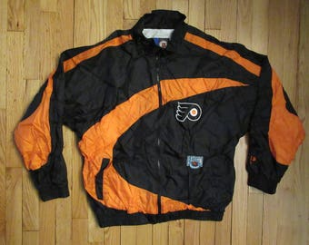 Rare Vintage Pro Player Philadelphia Flyers Eastern Conference Hockey Windbreaker Jacket Size Medium