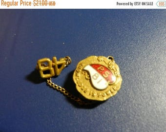 Summer Sale Vintage Class of 1948 Graduation Gold Filled Pin Badge