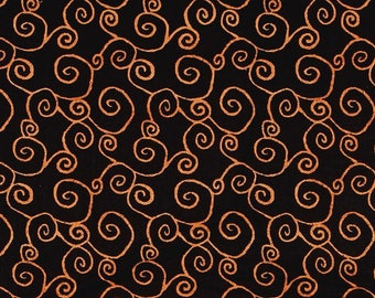 Witchy Black Swirl fabric for Halloween by Studio E #3706-99 yardage and fat quarters