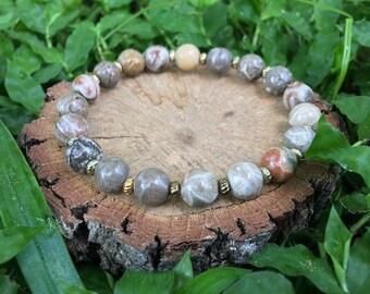 Dorothy Bracelet- Chrysanthemum Stone(8mm) Bracelet- gemstone jewelry- boho bracelet