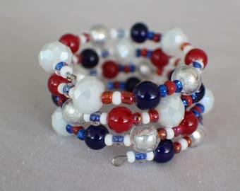 Independence Day- Coil Bracelet