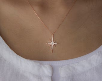 North Star Necklace / Sterling Silver