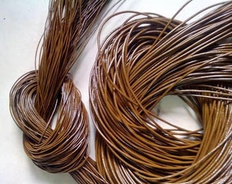 Brown Leather Cord 2mm genuine Indian leather