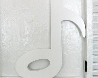Musiknote aus Holz weiß 29,5 cm