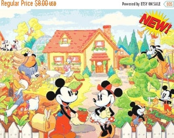 "mickey and minnie married Counted Cross Stitch mickey and minnie Pattern kreuzstichvorlagen korss - 23.64"" x 17.71"" - L1301"