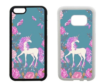 Unicorn phone case iPhone 6S 6 7 8 Plus X SE 5S 5C 5 4S, Samsung Galaxy S8 Plus, S7 S6 Edge Note 5, S5 S4 rubber bumper cover for girls R378
