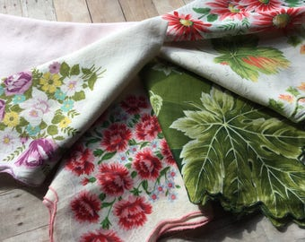 Wonderful Assortment of Large Vintage Hankies - All Are 16x16 - Extra Large Size - Excellent