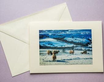 Winter in Teesdale - all occasion greeting card