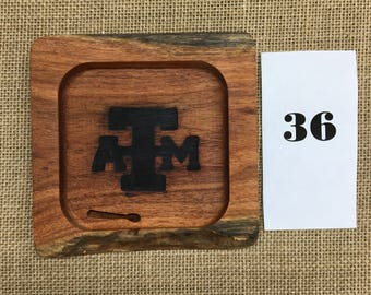 Texas A&M Ring tray out of mesquite  - last one! Ready to ship