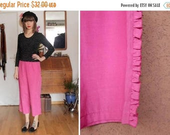 SUMMER SALE Vintage Tuzzi Pink Ruffled Pants