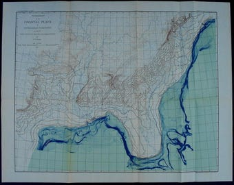 1892 Map Physiography Of The Coastal Plain Of Southeastern United States During Lafayette Pre