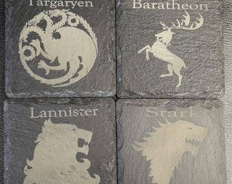 Game of Thrones Slate Coasters