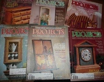 Vintage  Weekend Woodworking  Projects Magazines 1990/1991