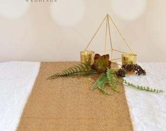 SUPER SALE!! Gold Sequin Table Runner ~ Bulk Order ~ 12 x 108 Inches ~ Wedding Decor ~ Wedding Table Runner ~ Spring Wedding