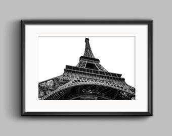 Eiffel Tower Photo Print Wall Art,Printable Paris Photograph,Paris Decor Photograph,Eiffel Tower Print,Minimalist Print,Paris Poster,