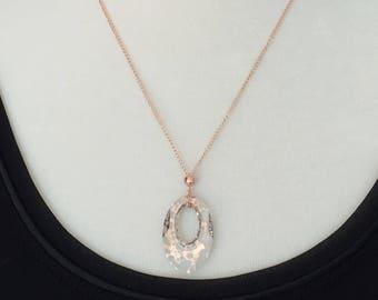 Southern Belles Nola Rose Patina Swarovski Crystal Necklace, 14k Rose Gold Filled