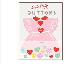 Little Dolly Dress Buttons by Elea Lutz for Penny Rose Fabrics