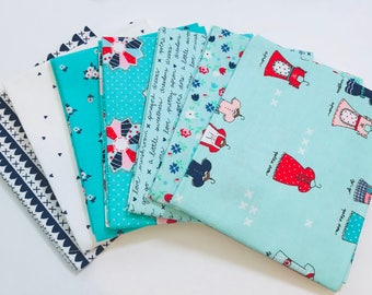 Fat Quarter Bundle A Little Sweetness bt Tasha Noel for Riley Blake Designs- 7 Fabrics