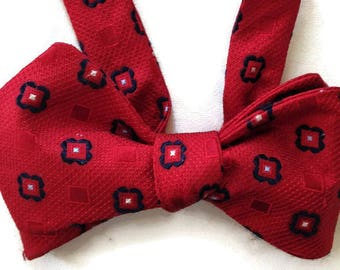 Silk Bow Tie  for Men - Hip Hop  - One-of-a-Kind, Handcrafted - Self-tie - Free Shipping