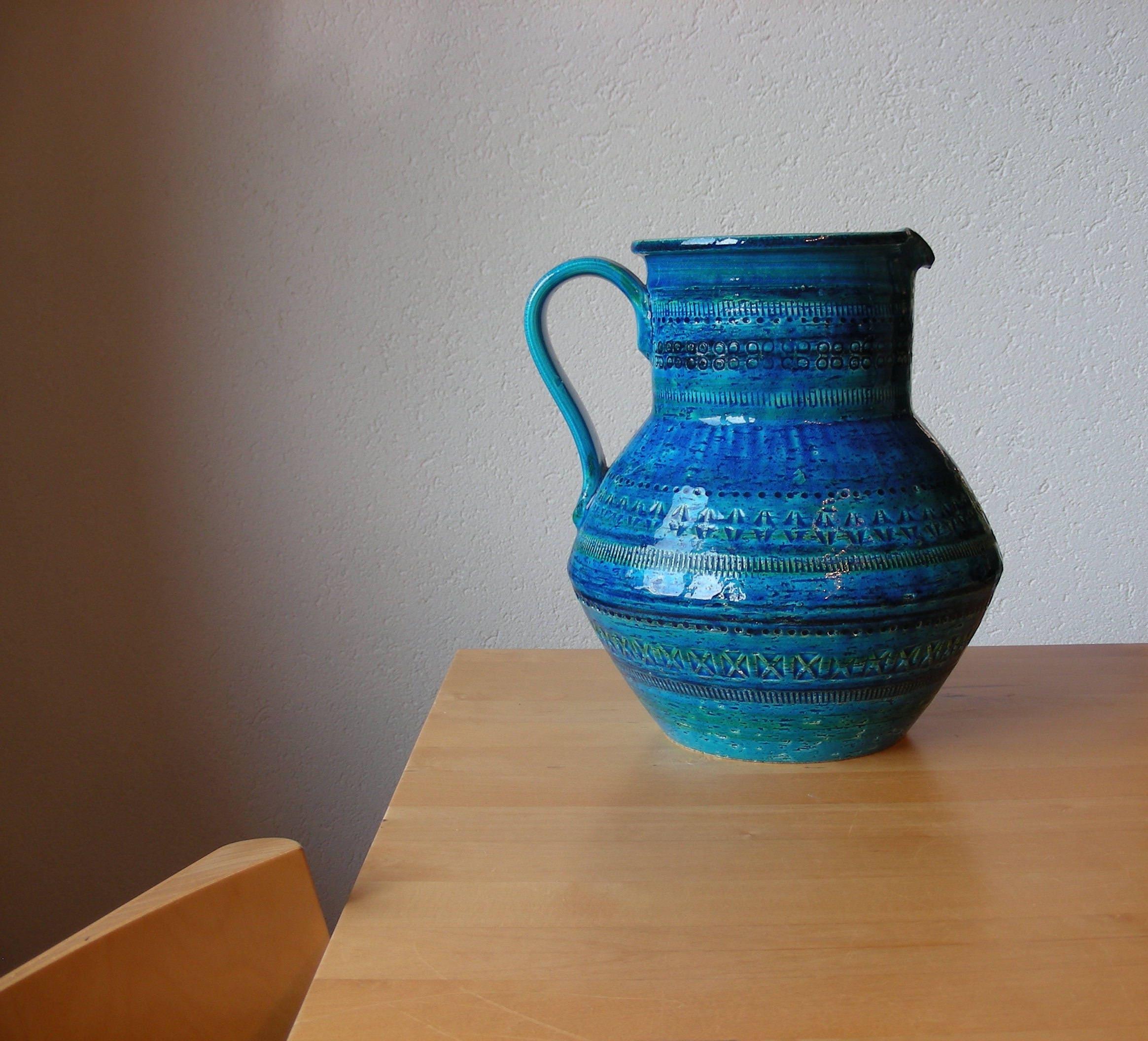 Bitossi rimini blue vintage jug vase reviewsmspy