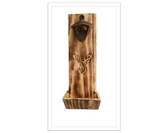 Bottle Opener Deer Head Carving