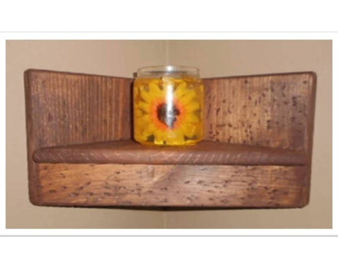 Wooden Corner Shelf Hidden Compartment
