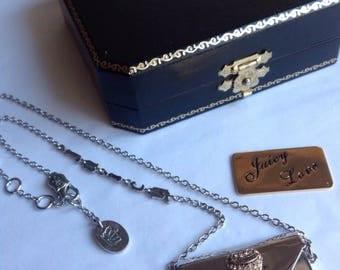 Juicy Courture Silver Envelope Courture Necklace Envelope Pendant Envelope Charm Courture Necklace Juicy Designer Juicy Necklace Gold Letter
