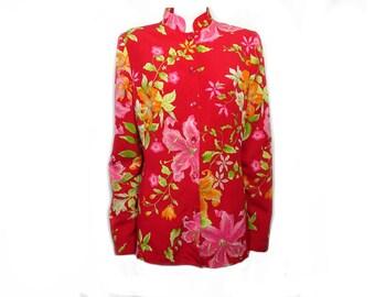 Kenzo Jungle flower jacket with Mandarin collar size 42